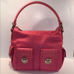 MARC JACOBS Pink leather satchel hobo purse